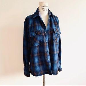 Vintage Woodland Wool Plaid Flannel Shirt